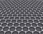 Rendering of a graphene lattice