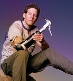 Image of Aron Ralston with a prosthetic arm